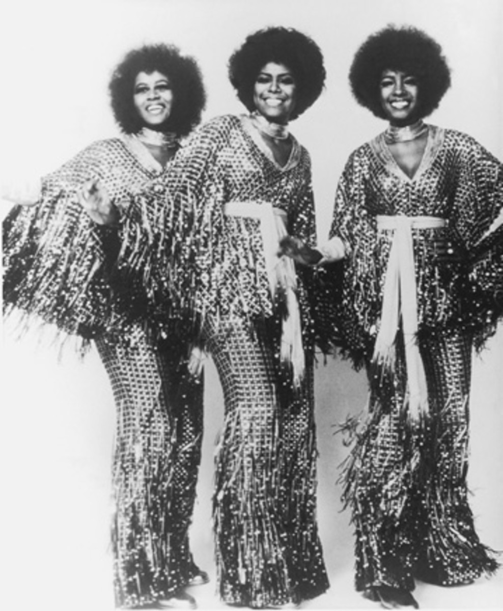 FROM SEQUINS TO STRIPES, stylish stage wear was the calling card of The Supremes. Publicity photo