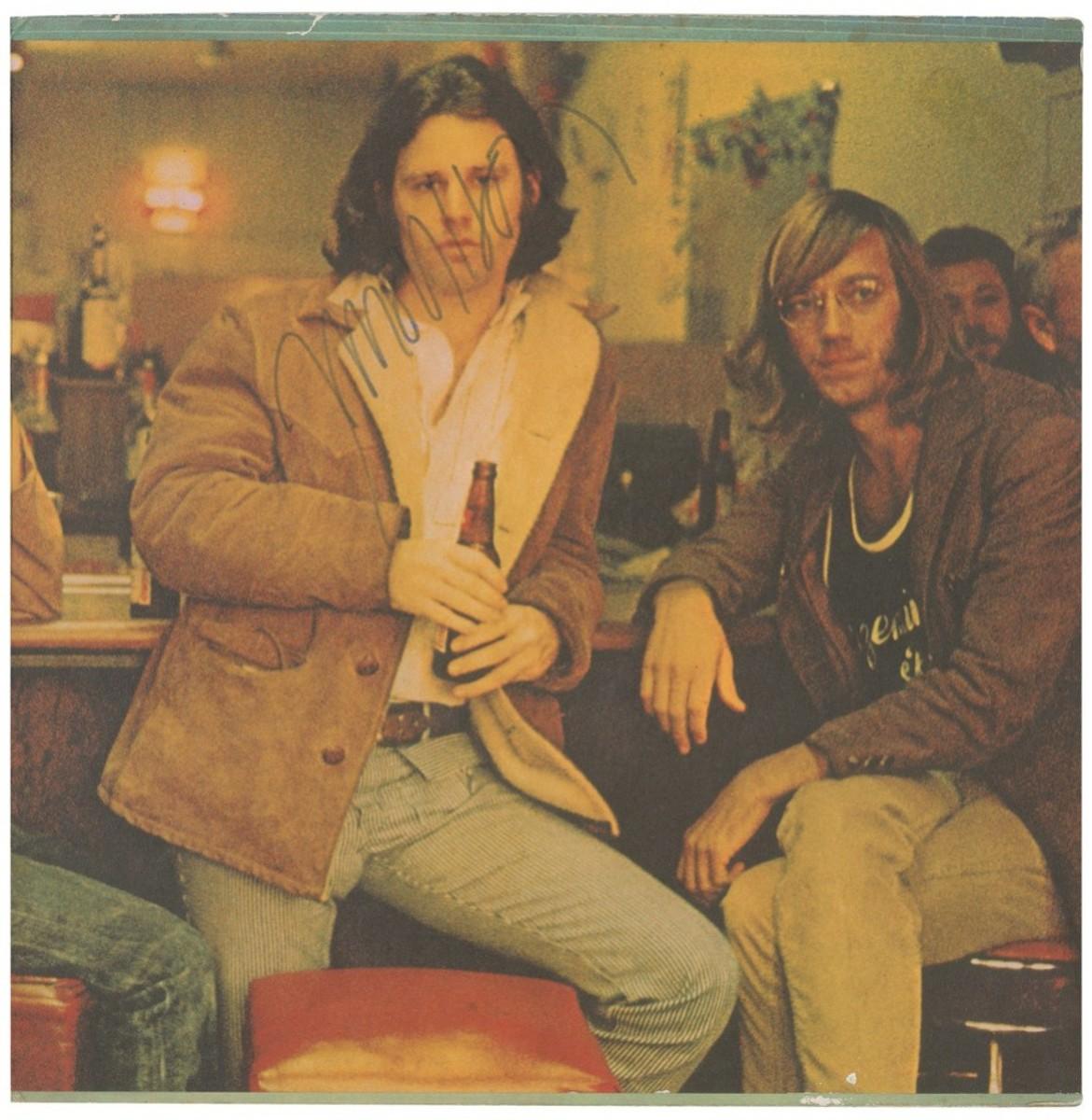 Jim Morrison signed Morrison Hotel album