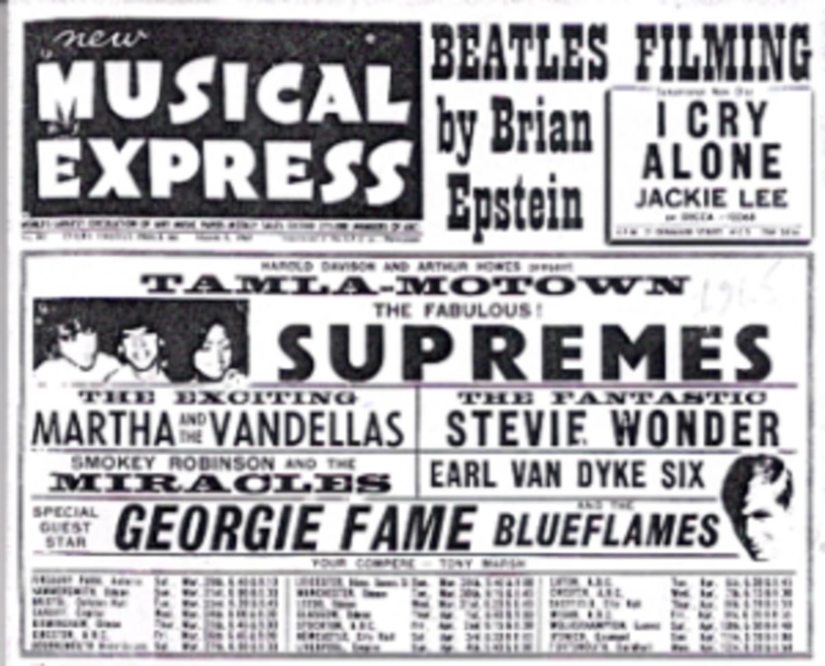 Tamla Motown handbill