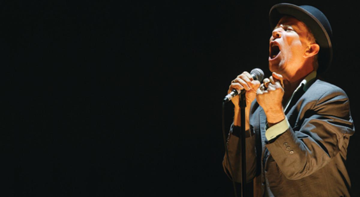 Tom Waits performs