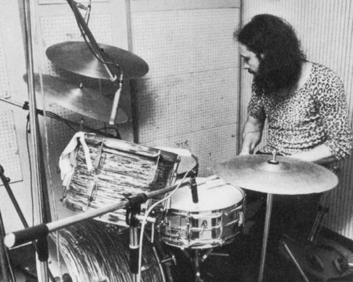 A younger Bill Ward in the studio