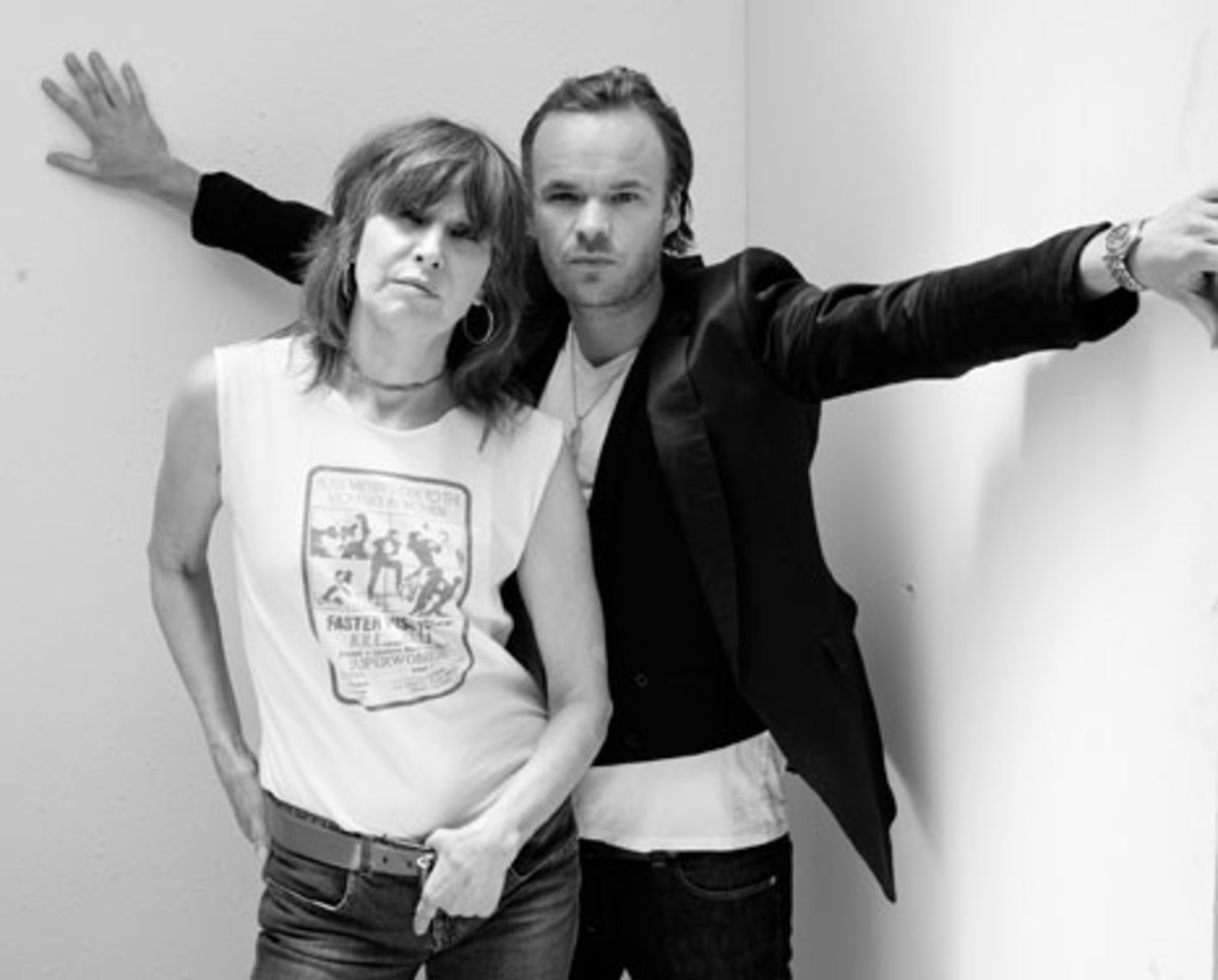 Chrissie Hynde and JP Jones. Photo courtesy of JP, Chrissie and The Fairground Boys