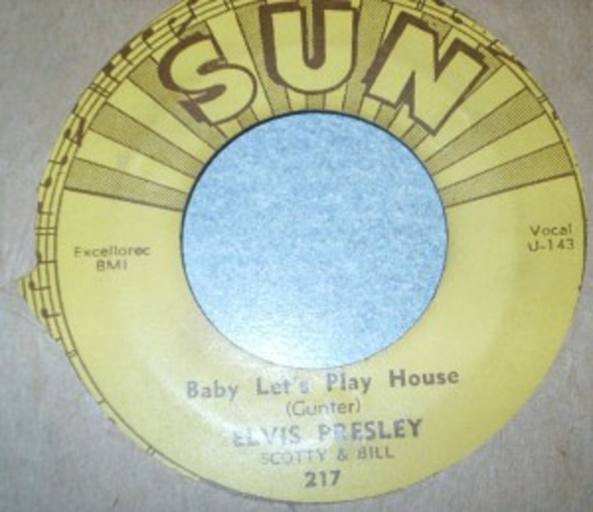 3. One of a set of five Elvis Presley Sun 45s.