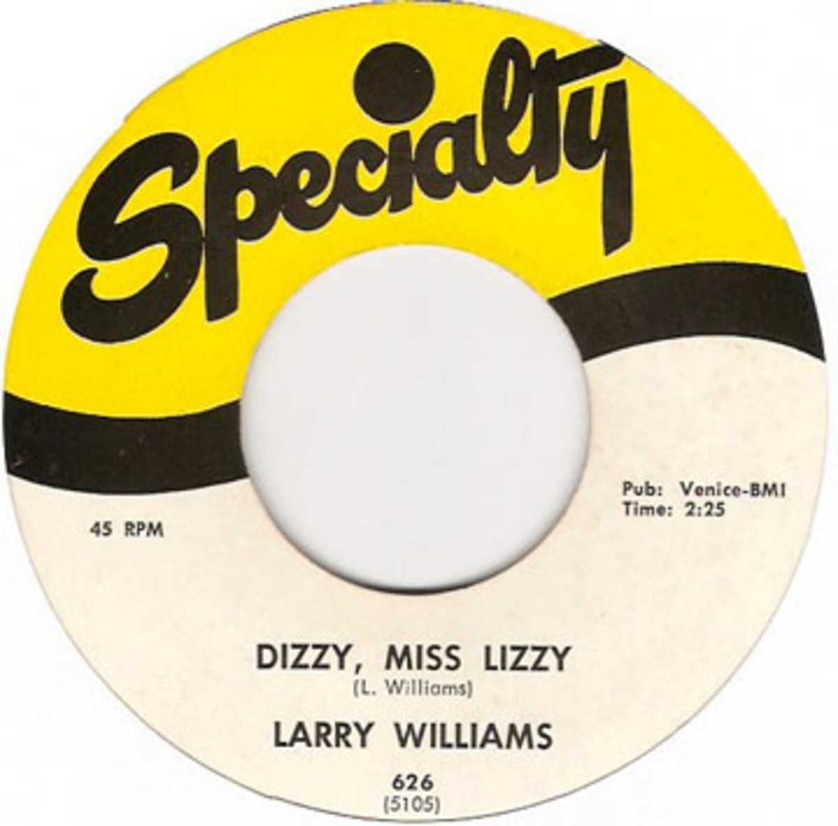 Larry Williams Dizzy Miss LIzzy