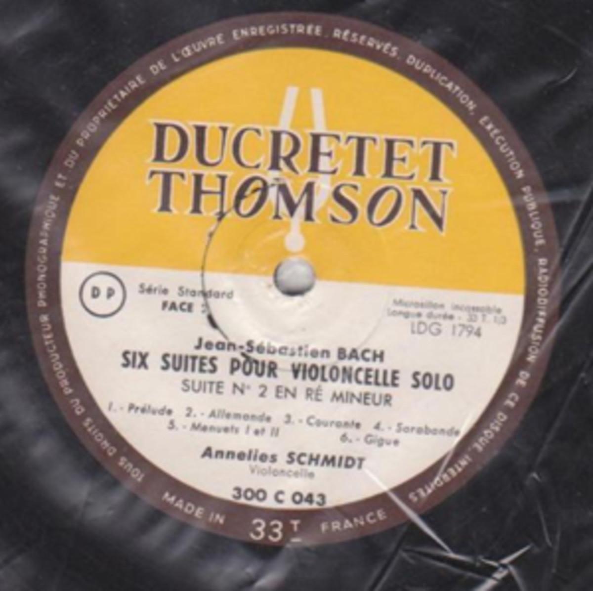 """Bach's """"Six Suites Pour Violoncelle Solo"""""""