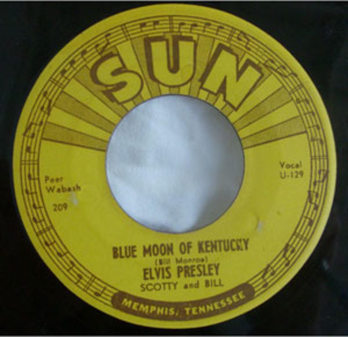 "Elvis Presley, ""Blue Moon of Kentucky"""