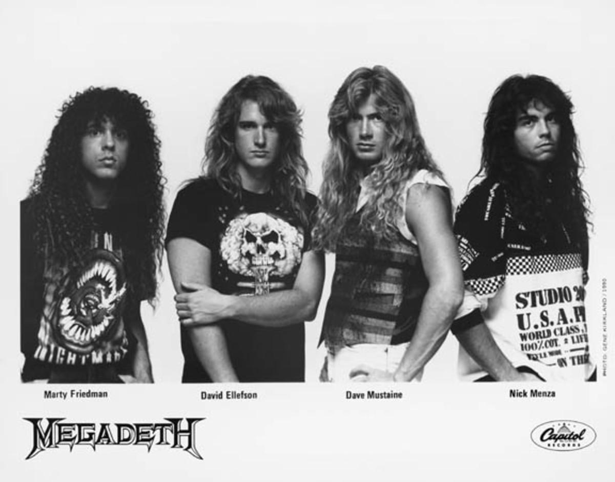 Megadeth 1990 photo by Gene Kirkland