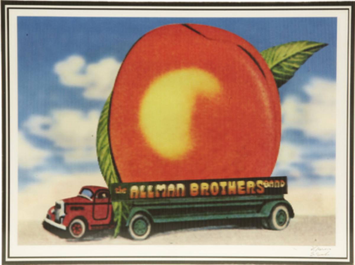 Eat A Peach Lenticular with Peach