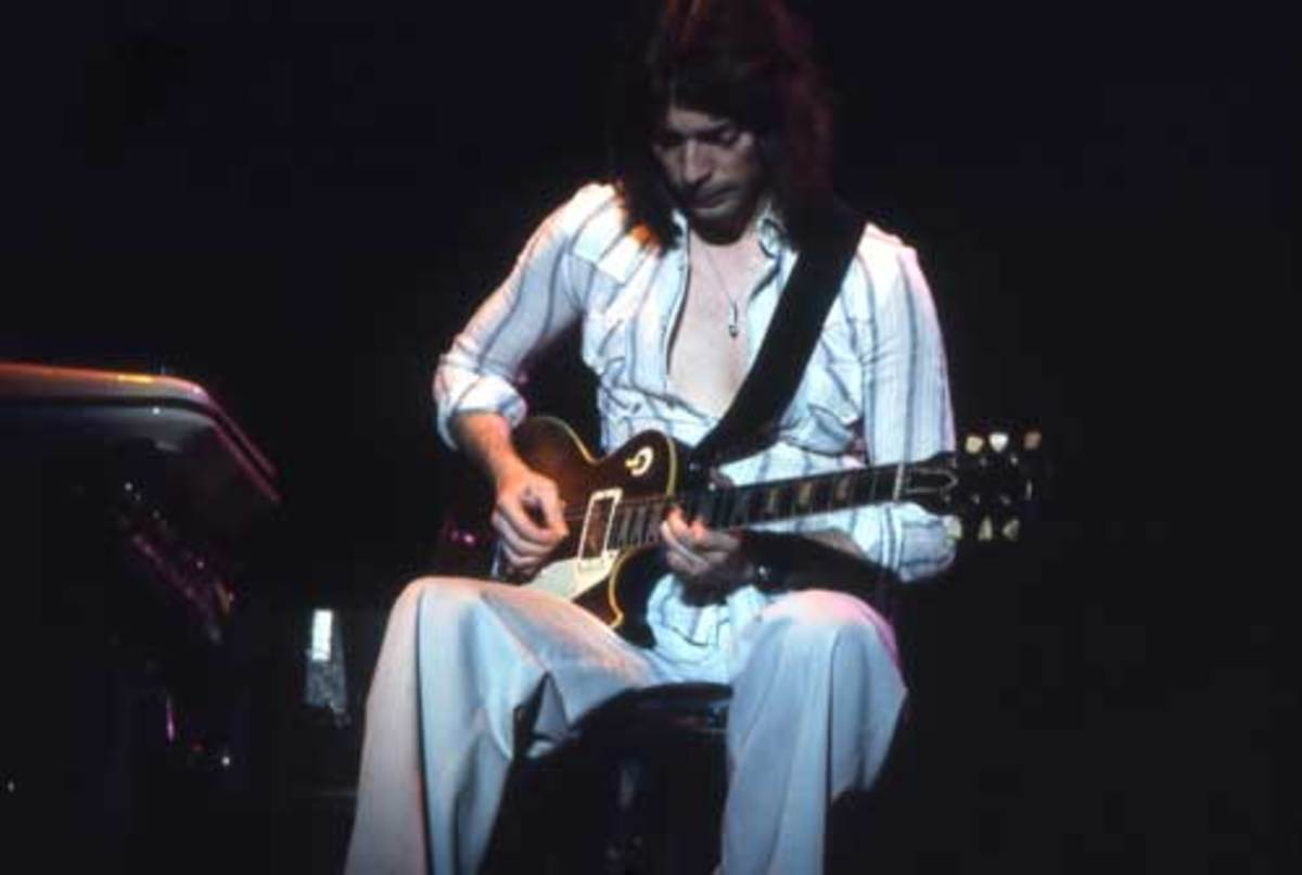 STEVE HACKETT'S guitar virtuosity during the classic Genesis years was a major influence for many popular musicians to come, from Trey Anastacio to Eddie Van Halen. Photo byLaurens Van Houten/ Frank White Photo Agency