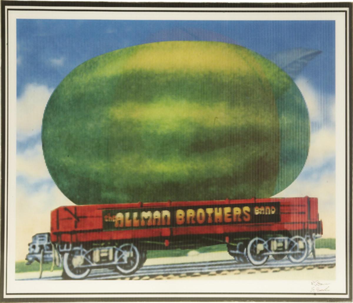 Eat A Peach Lenticular Watermelon