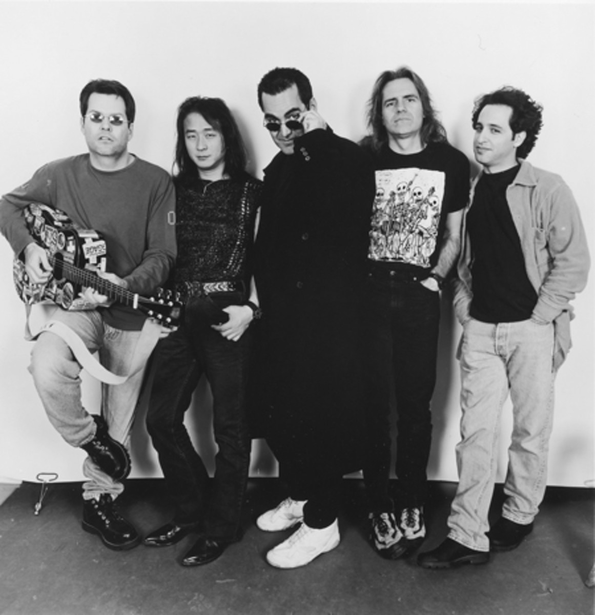 The old lineup of Spock's Beard: (from left) Alan Morse, Ryo Okumoto, Neal Morse, Dave Meros and Nick D'Virgilo. Photo courtesy of Metal Blade Records
