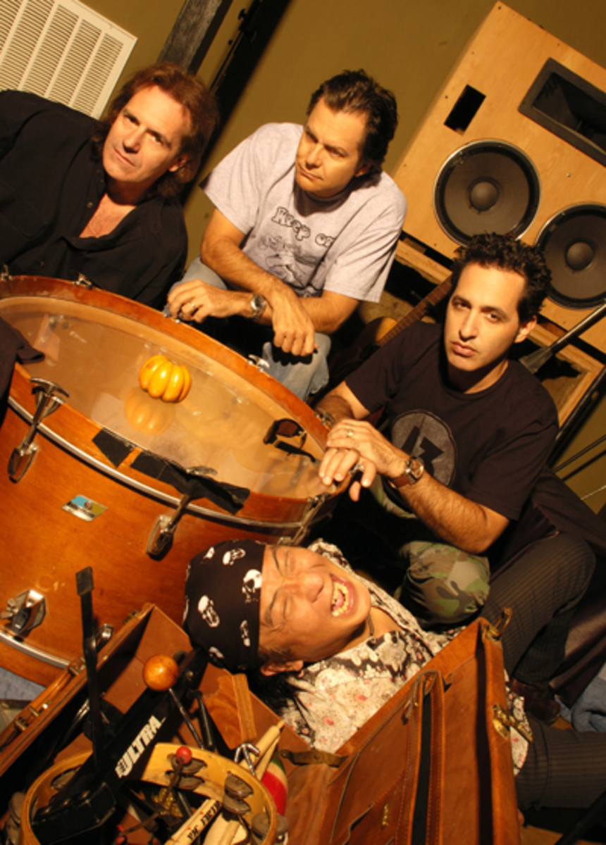 Currently, Spock's Beard is (from top, left) Dave Meros (Bass/Keys/BGVs), Alan Morse (Guitars/BGVs), Nick D'Virgilo (Lead Vox/Drums/Guitar/Keys) and Ryo Okumoto (Keyboards). Courtesy of Spock's Beard