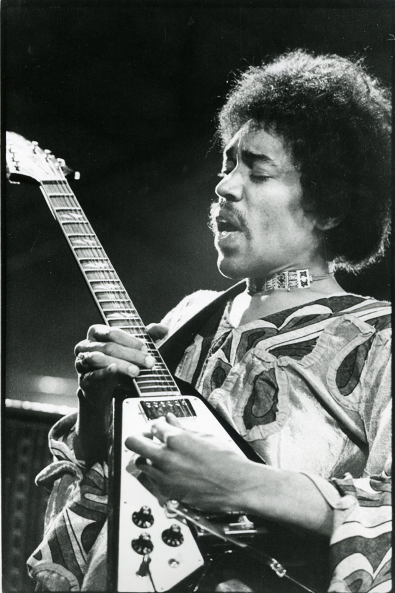 JIMI HENDRIX'S performance at the 1970 Isle of Wight festival came just a month before his untimely death. Courtesy Laurens Van Houten/Frank White Photo Agency