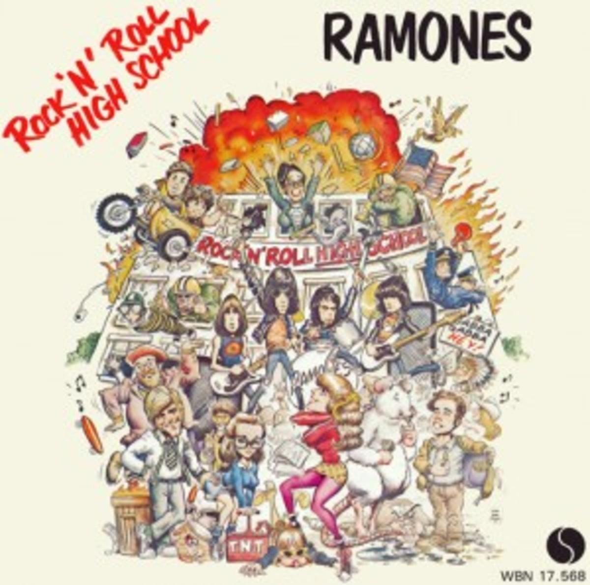 The Ramones Rock 'n' Roll High School picture sleeve