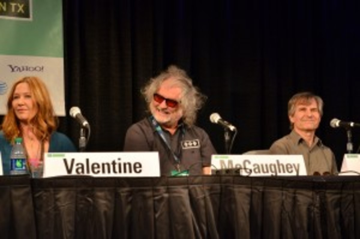 "From left: Kathy Valentine, Scott McCaughey and Chris Stamey during the ""Lowe Common Denominator"" panel March 13 at SXSW. (Photo by Chris M. Junior)"