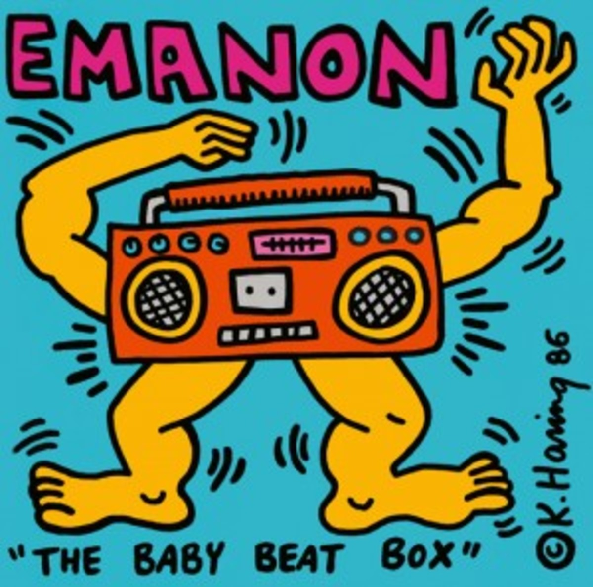 Emanon The Baby Beat Box picture sleeve by Keith Haring