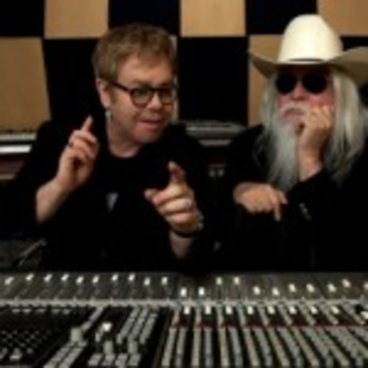 Elton John (left) and Leon Russell (photo by Joseph Guay)