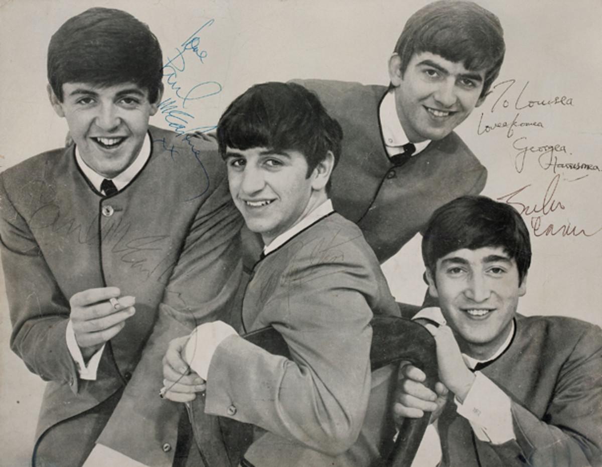 Beatles Band Signed Promo Photo