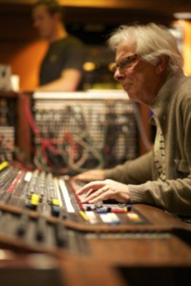 Recent photo of Glyn Johns at the helm. Photo by Julia Wick