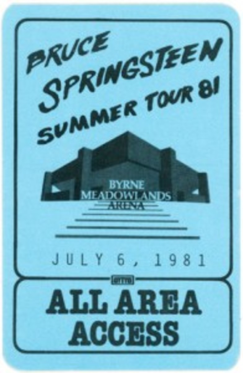 bruce backstage pass from backstreets