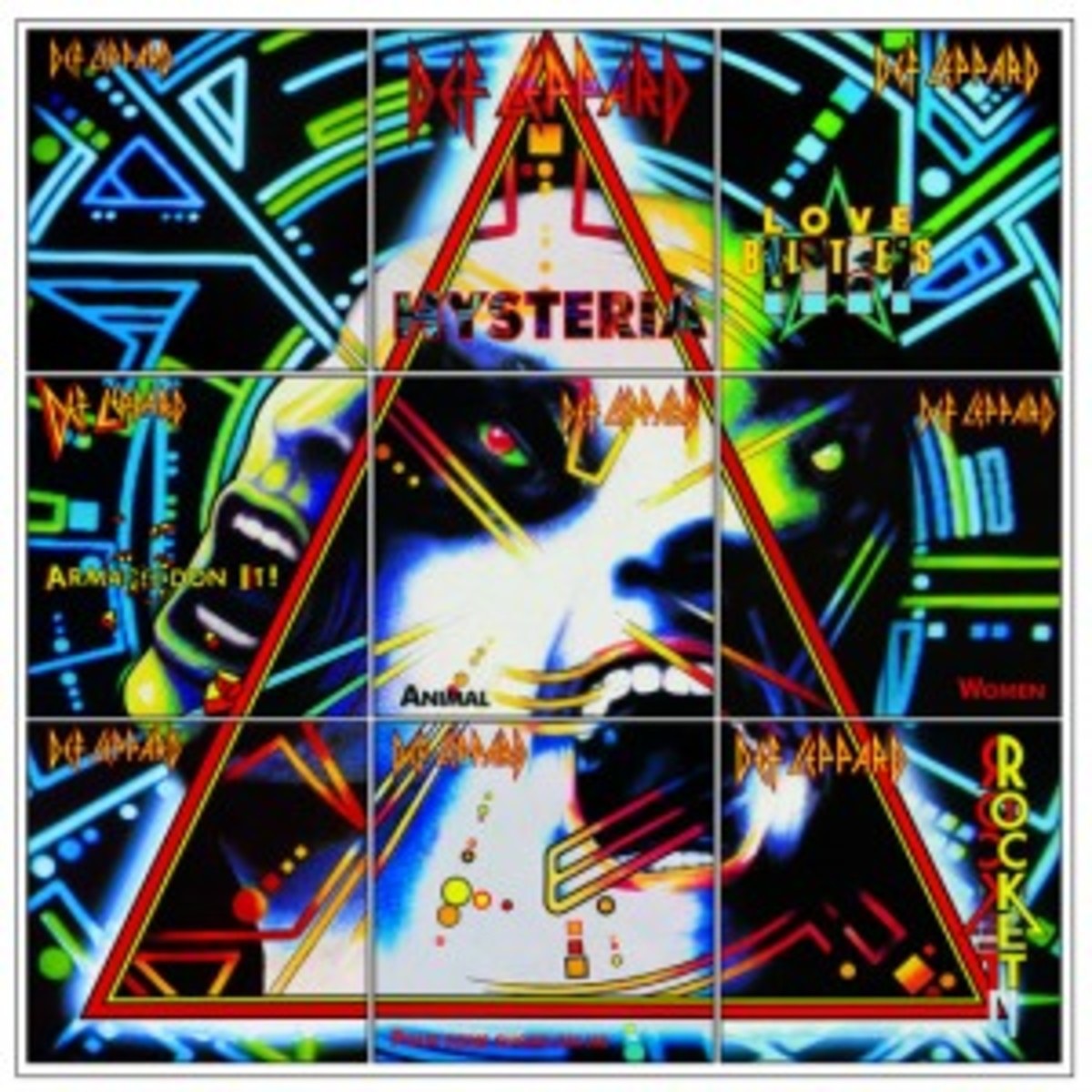 Def Leppard Hysteria picture sleeves