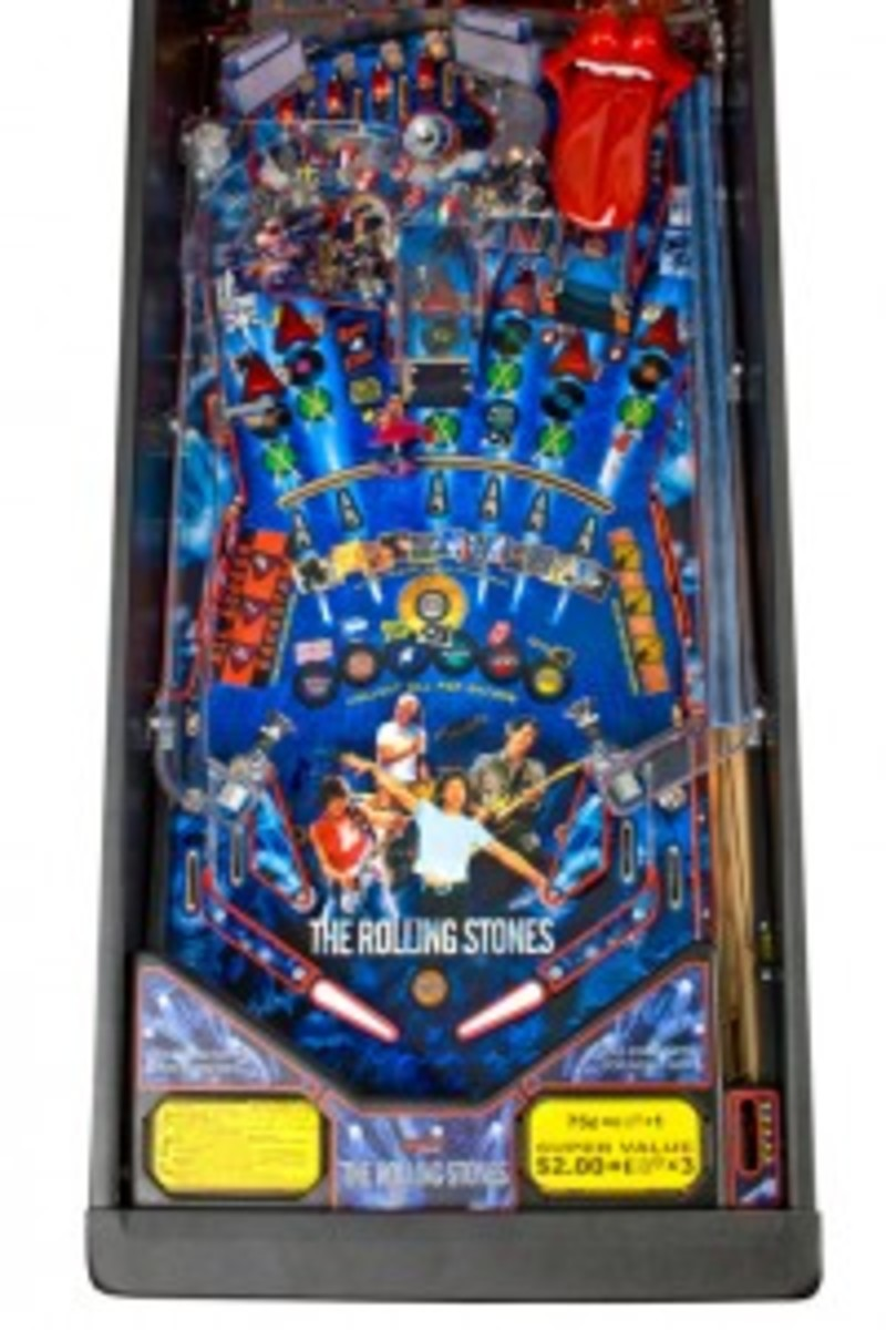 Rolling Stones Pinball Playfield