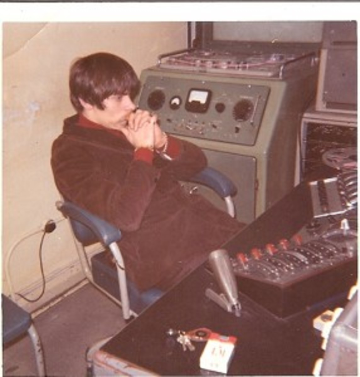 Johns at IBC in the early 60s. Photo courtesy of Glyn Johns.