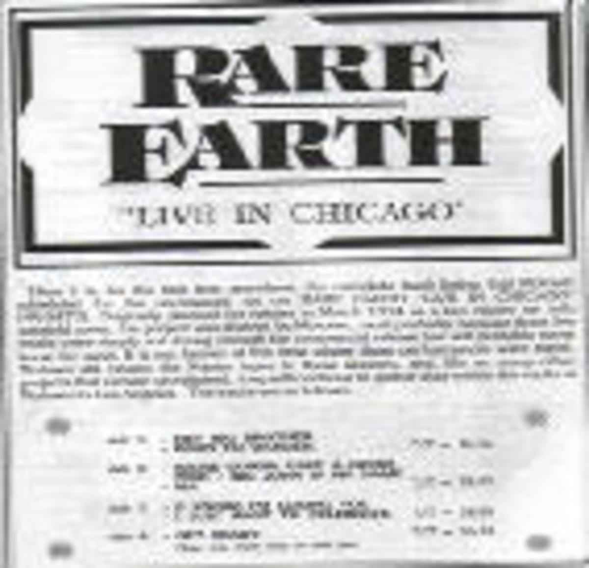 Rare Earth Live in Chicago