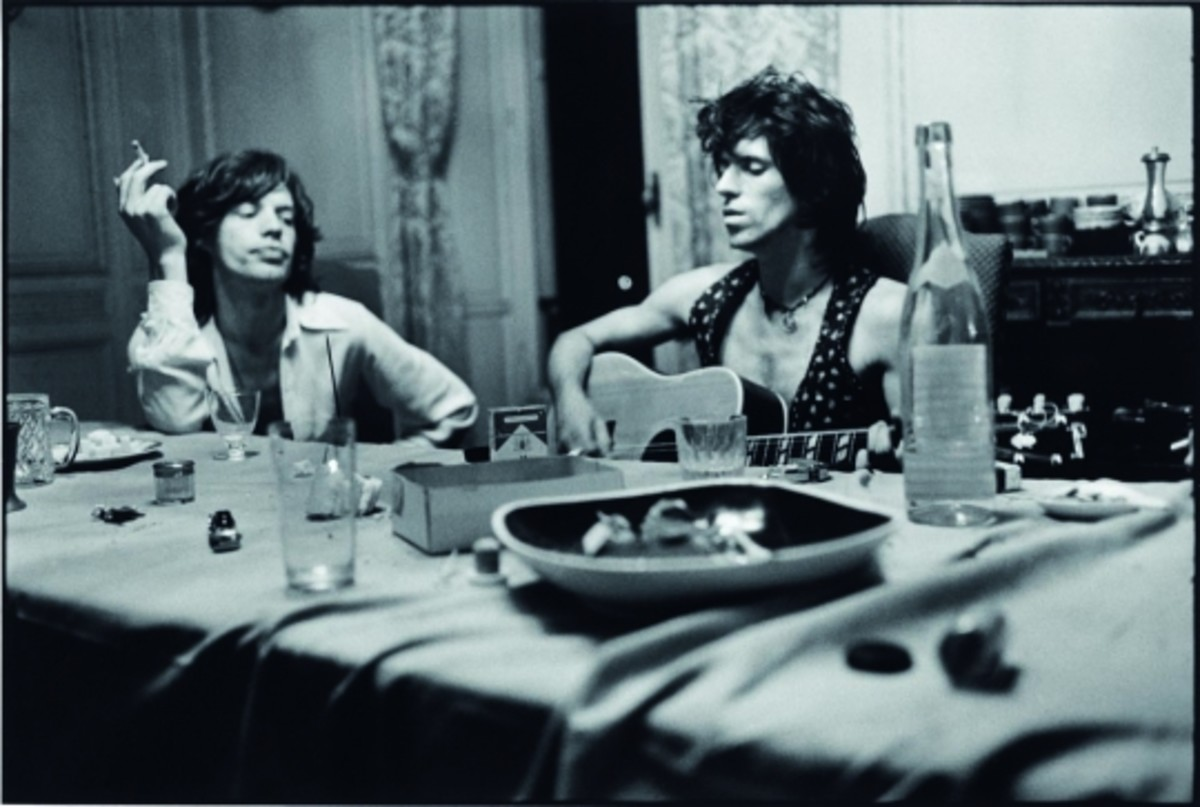 Mick Jagger and Keith Richards pictured during the recording of Exile On Main Street.