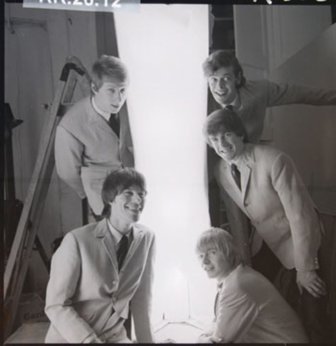 A 1965 photograph of the Yardbirds by Philip Kamin. Photo courtesy of Backstage Auctions