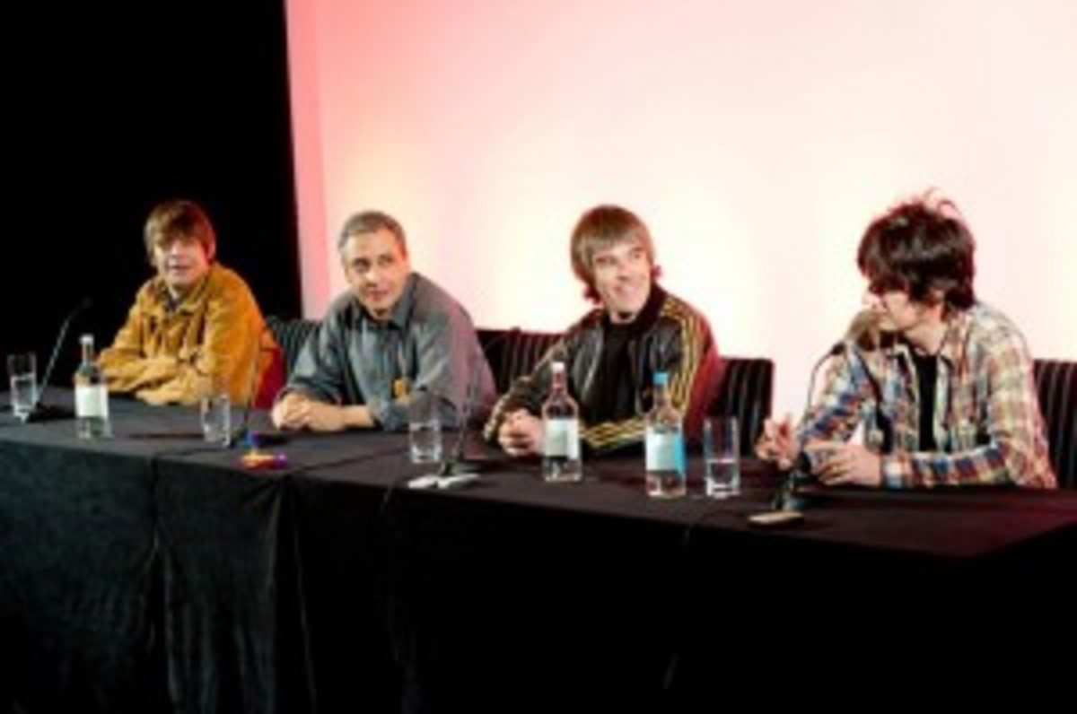 The Stone Roses announced plans for their 2012 reunion yesterday during a very entertaining press conference at London's Soho Hotel.