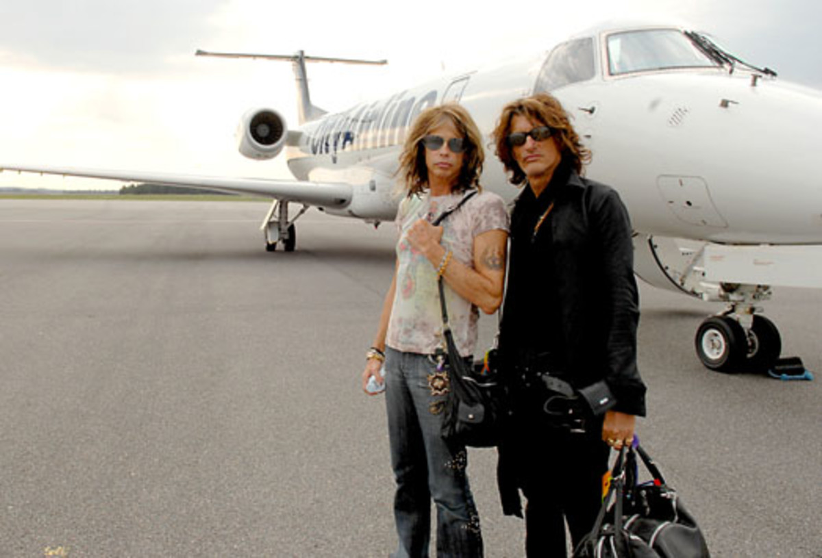 """Steven Tyler (WITH JOE PERRY): """"I'm still in Aerosmith, so the circus is still in town."""" Photo courtesy Ross Halfin/MSOPR"""