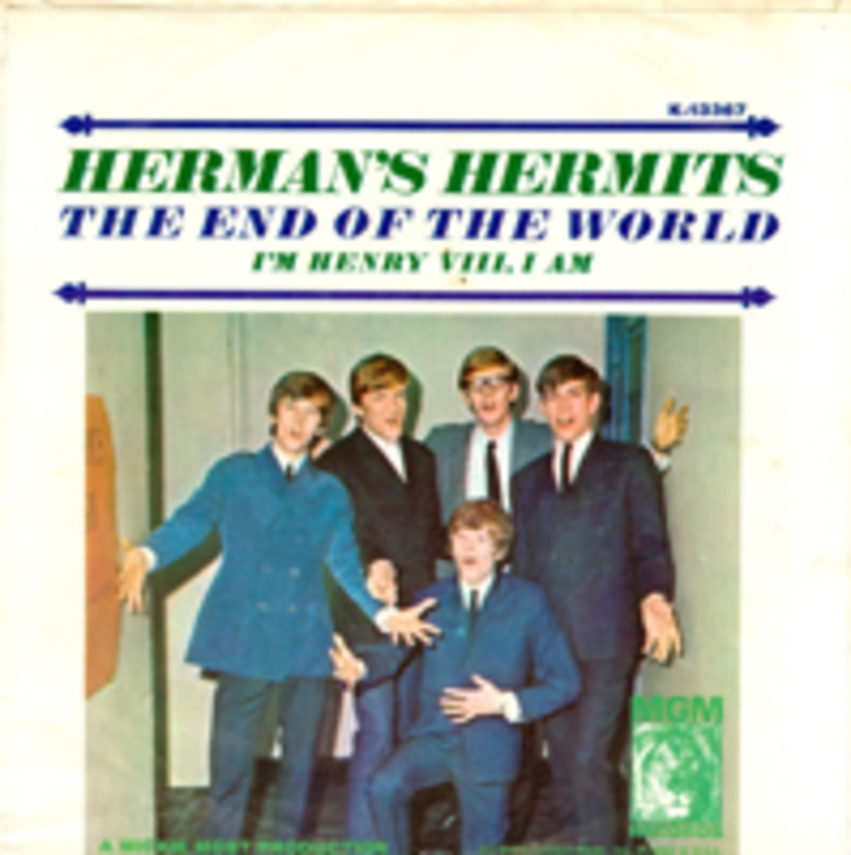 Herman's Hermits The End of the World picture sleeve