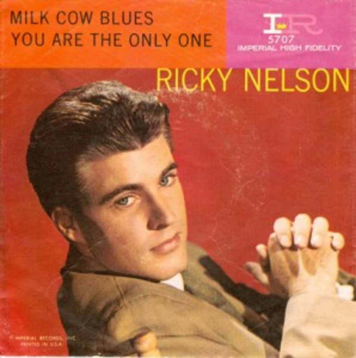 Ricky Nelson Milk Cow Blues and You Are The Only One picture sleeve