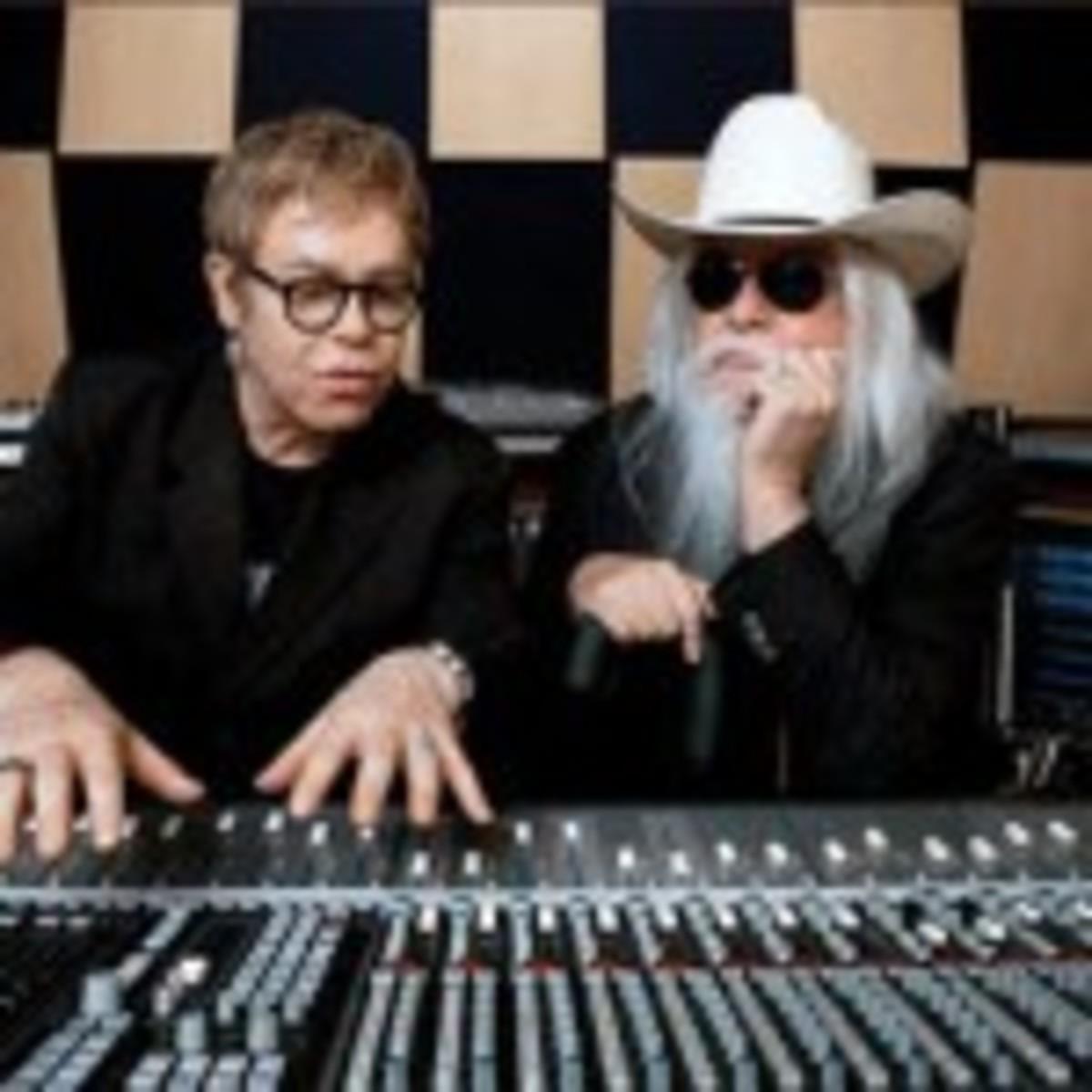 Elton John (left) and Leon Russell