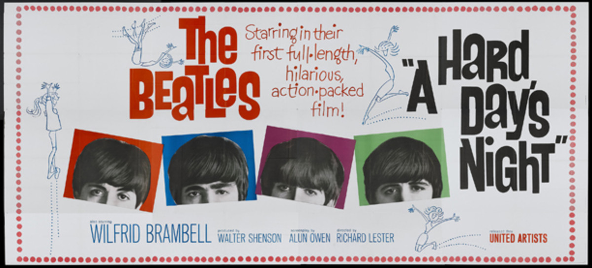Beatles Hard Day's Night poster