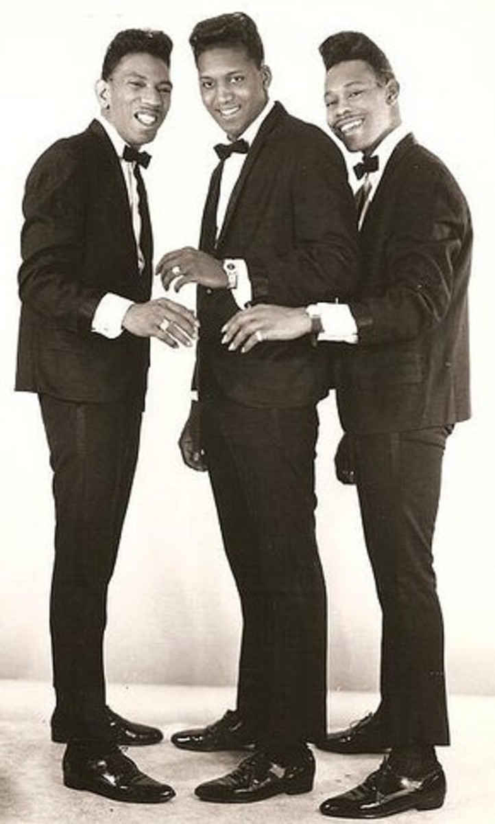 "The Famous Flames (l to r): Bobby Byrd, Bobby Bennett & ""Baby"" Lloyd Stallworth"