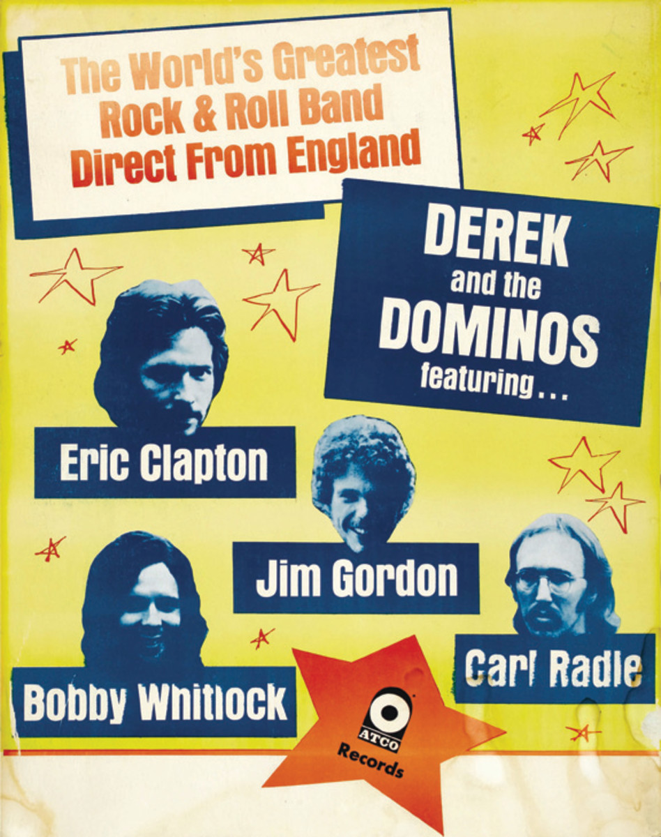 This concert poster could've had Neal Schon in it — had the guitarist taken up Eric Clapton on his offer to join up and head over to England to perform. This poster sold for $537.75 at auction. Photo courtesy Heritage Auctions.