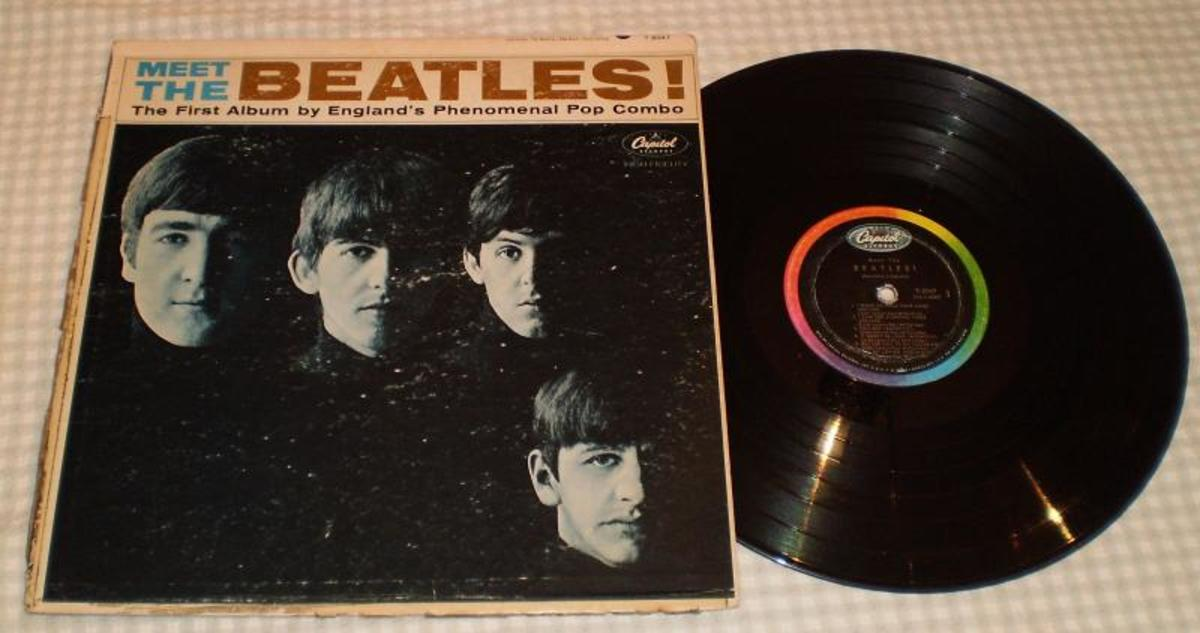 """A WELL-LOVED copy of """"Meet The Beatles"""" is the record with the most sentimental value in Gib Robbie's collection. He received the album from his father the day after The Beatles' appearance on """"The Ed Sullivan Show."""" Photo courtesy Gib Robbie"""