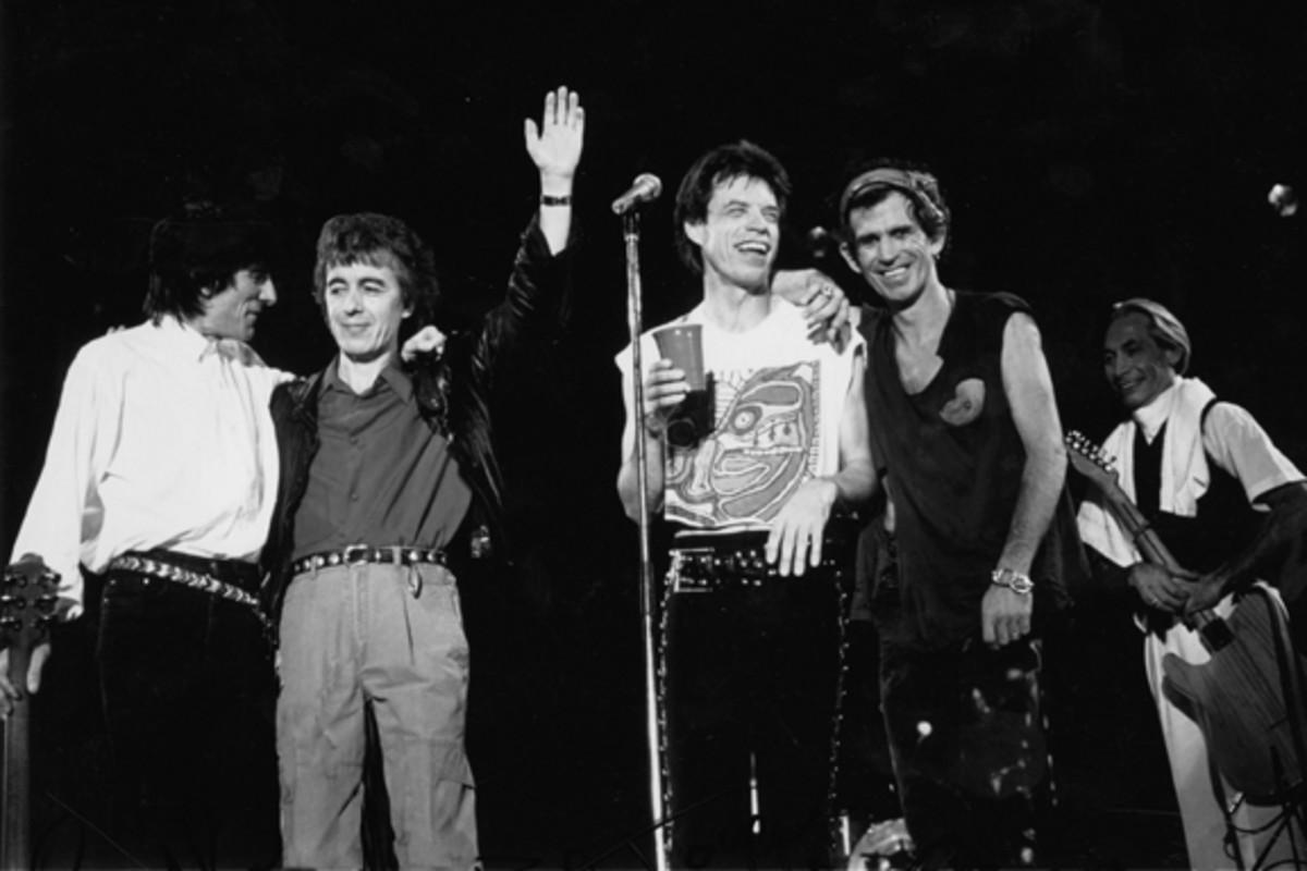 Rolling Stones Mick Jagger, Ron Wood, Keith Richards, Bill Wyman, Charlie Watts