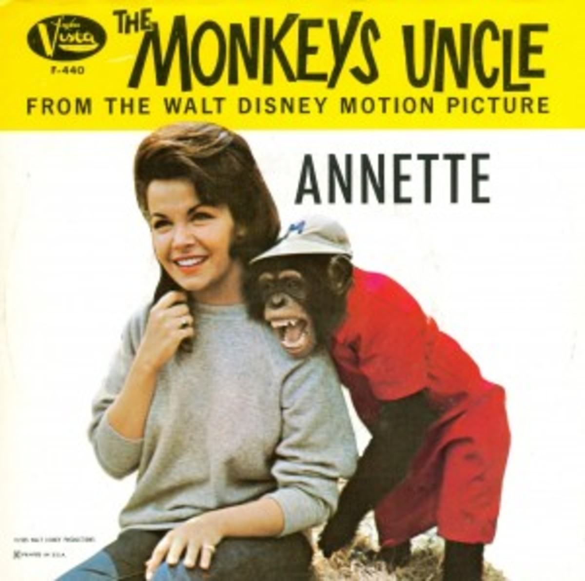 Annette Funicello Monkey's Uncle Picture Sleeve