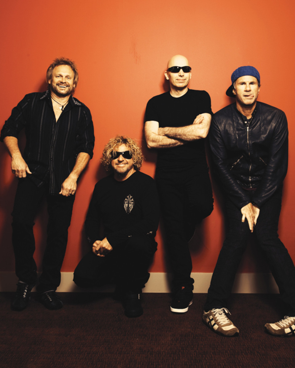 Chickenfoot photo of Michael Anthony, Sammy Hagar, Joe Satriani and Chad Smith by Le-Anne Mueller