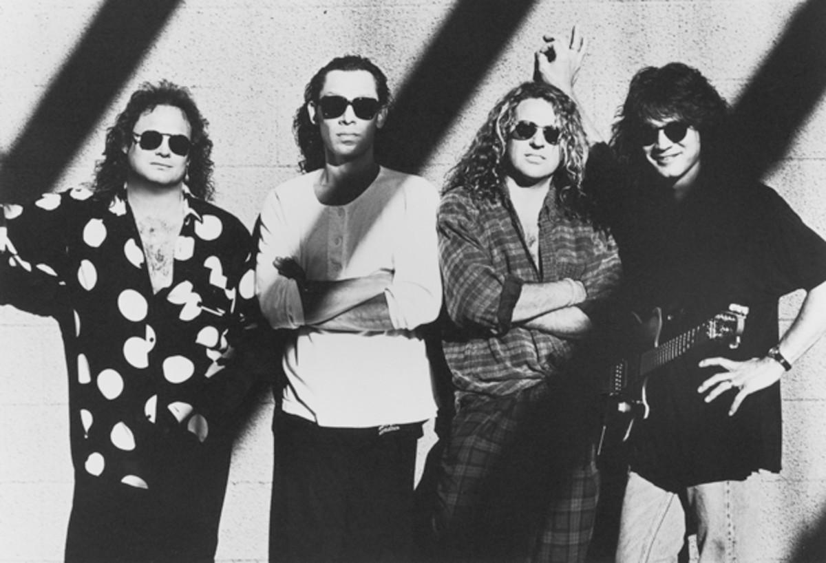 Van Halen 1991 Michael Anthony Alex Van Halen Sammy Hagar Eddie Van Halen 1991 Warner Brothers