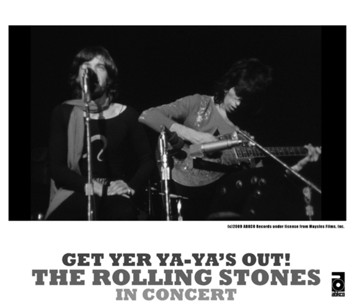 Mick Jagger and Keith Richards in an ABKCO press photo for Ya-Ya's