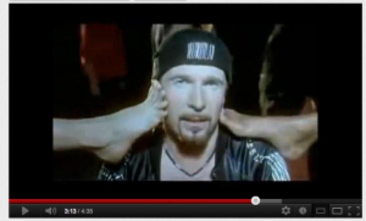 U2 numb video