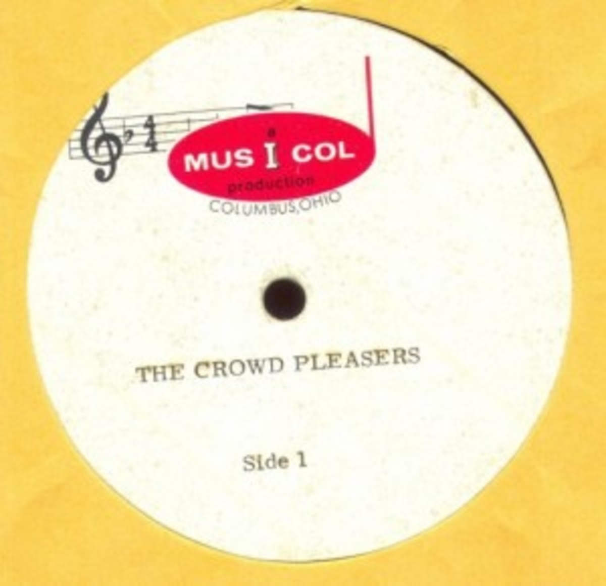 The Crowd Pleasers acetate on Musicol
