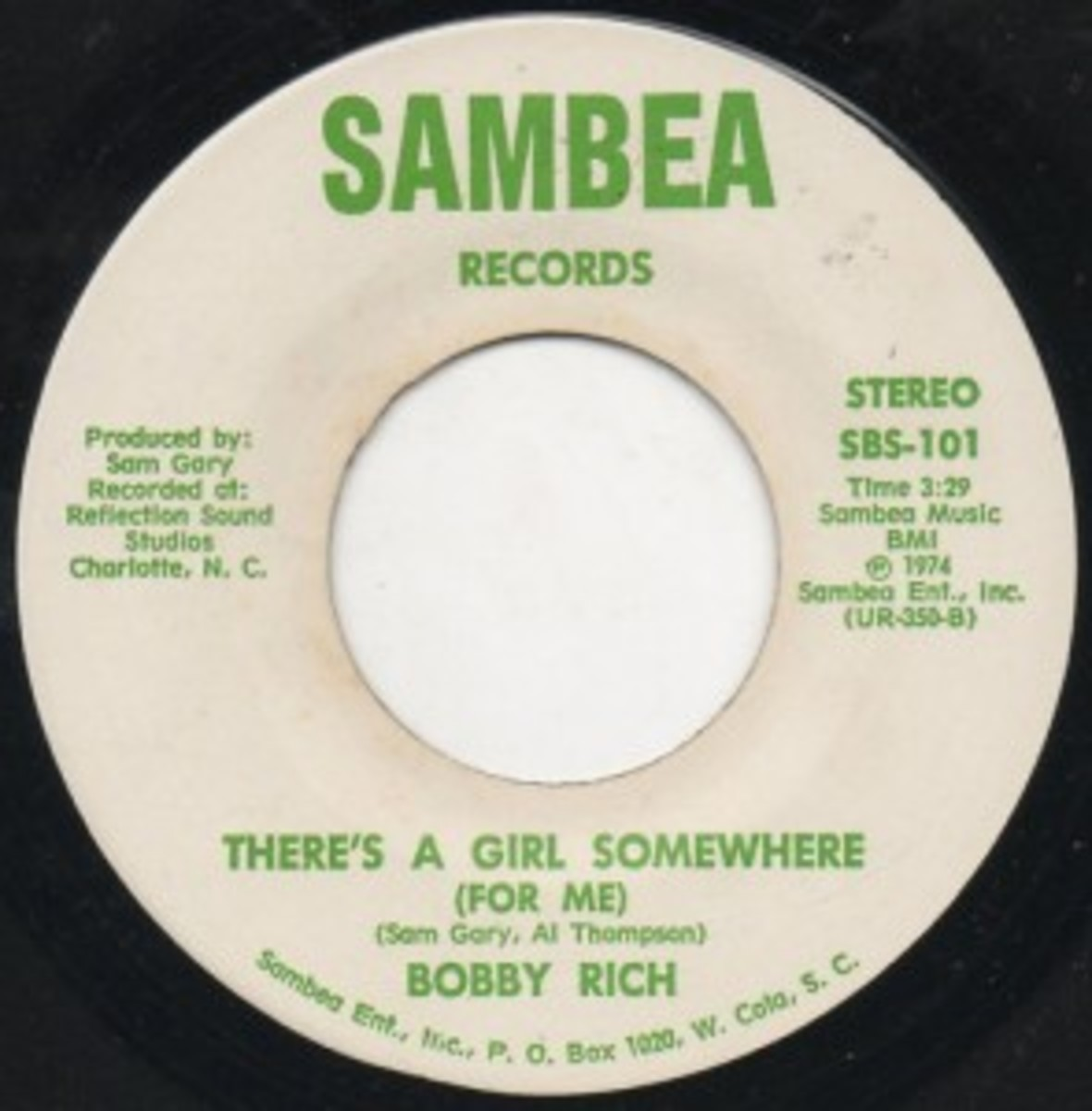 Bobby Rich There's A Girl Somewhere For Me