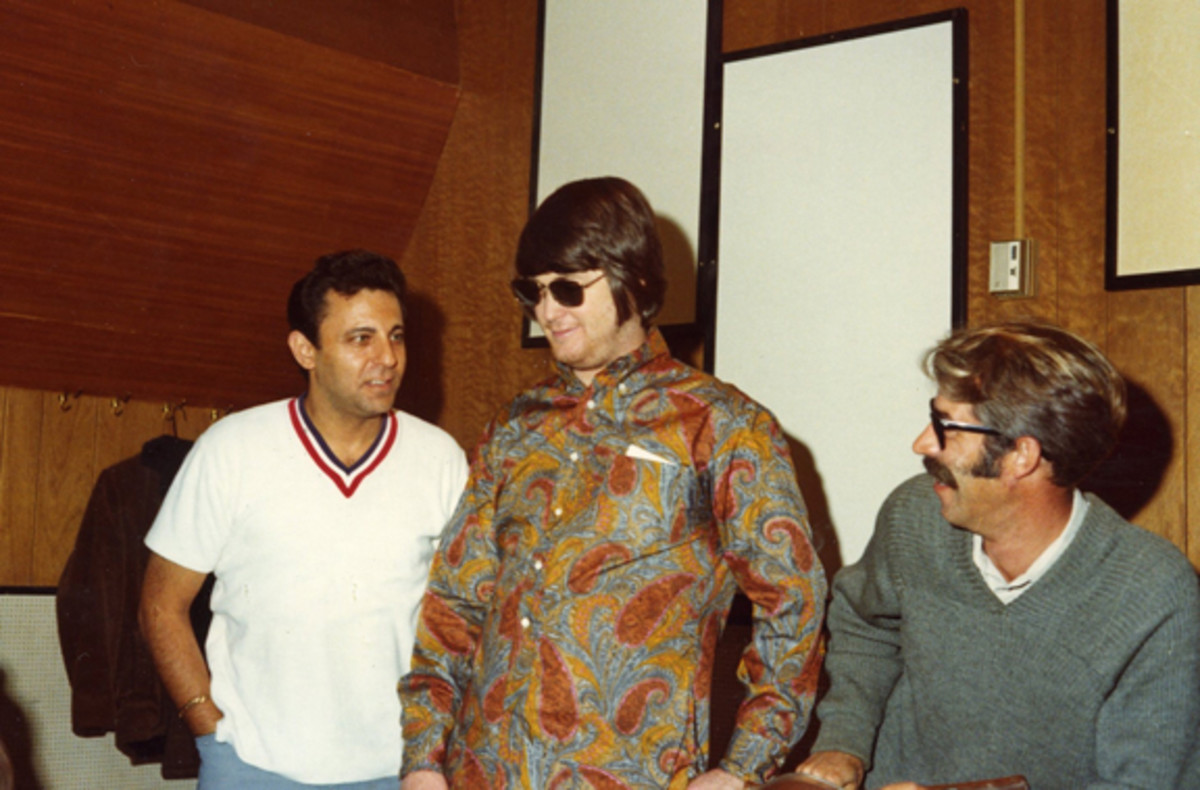 Hal Blaine with Brian Wilson and Ray Pohlman