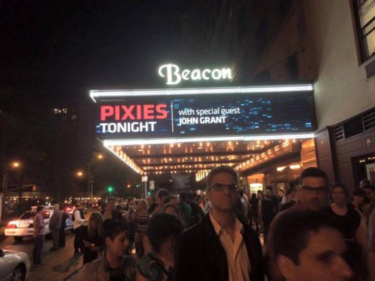 Fans exit the Beacon Theatre in New York City on Wednesday, May 27th after witnessing another incredible Pixies show.