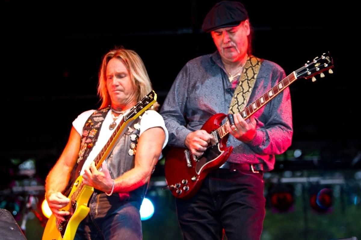 FOGHAT Vocalist/guitarist Charlie Huhn and lead guitarist Bryan Bassett. Courtesy of Foghat
